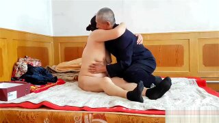 Handsome Chinese grandpa giving fucking