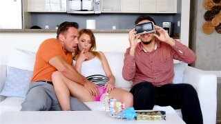 Alex Blake cheats on her BF while he is playing VR machine