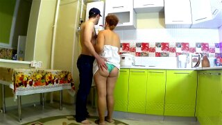 Stepmother spread her legs and gave her stepson a fuck. Mom big ass anal