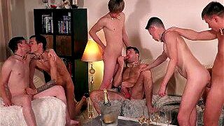 ethan duval's twink fuck party real gangbang