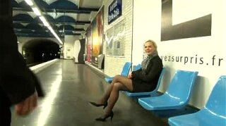 Blonde Has Sex On Subway And Street Public Oral Anal