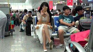 Cute Chinese Girl Shoeplay