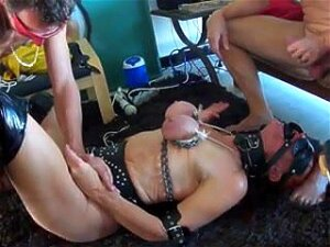 Very Nice Looking Slut With Big Booty And Massive Tits Gets Tied And Tortured In A Wicked BDSM Threesome. Porn