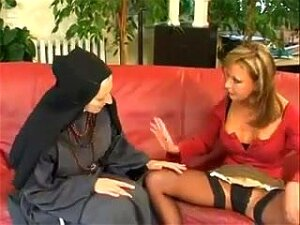 French Nun Fisting Her Lesbian Blonde Friend On A Couch. Hardcore Lesbian Porn With A Hot French Nun And A Blonde Whore. These Two Dykes Enjoy Some Hot Fisting Sex On The Couch. Porn