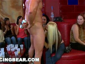 DANCING BEAR - Wild CFNM Orgy With Big Dick Male Strippers Slingin' Cock Porn