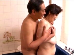 Japanese Granny With Deep Hanging Saggers, Amateur, Censored Porn