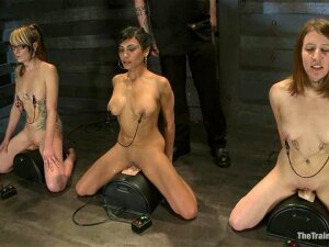 A Few Nude Girls Have A Casting For A New BDSM Scene Porn