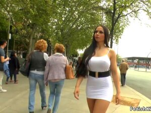 Huge Tits Spanish Brunette Hottie Marta La Croft Walked Without Panties In Public Street Then In Bar Made By Mistress Mona Wales Fuck Big Dick Bdsm Porn