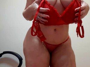 Sensual Dance In Red Heels Dress Porn