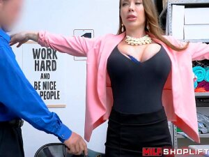 Classy MILF Busted For Trying To Shoplift Sucks Cock And Takes Rough Pounding To Avoid Jail Time. Porn