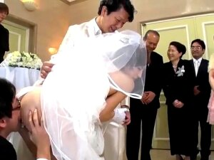 Watch Groom Shares The Bride On  Now! - Doggystyle, Cuckold, Japanese Cuckold, Bride Cuckold, Asian, Creampie, Cumshot, Hardcore, Japanese, Public Porn  Groom Shares His Bride. Porn