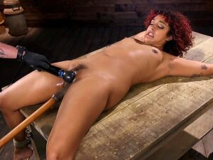 Curly Black Sweetie With Nose Piercing Likes To Be Dominated Porn