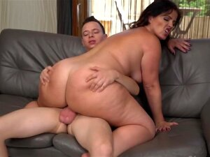 Curvy Brunette MILF Lady Gets Rammed By A Young Porn Stud Porn