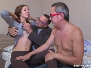 A Loving Girlfriend Will Always Help Her Man Achieve His Goals And If It Means She Needs To Seduce His Business Partner And Get Him To Sign A Contract By Fucking Him Right In Front Of Her Honey She Will Do It. Not That She Doesn't Enjoy It, The Older Dude Fucks Her In The Ass Like A Real Stud And Gives Her A Powerful Anal Orgasm. You Bet She's Gonna Get Another Good Fuck From Her Bf Once This Fella Signs The Papers And Leaves. What A Useful Slut! Porn