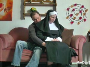 Nasty Nun Couldnt Resist Sucking A Stiff Dick And Riding It Until She Experienced An Orgasm Porn