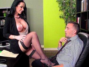 Zesty Secretary Jayden Jaymes Strips Down For Her Boss Porn