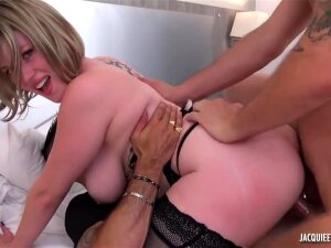 Busty Blonde, Milena Went Home With Two Guys And Had A Wild Threesome With Them Porn