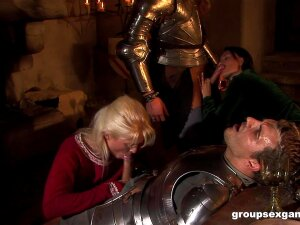Medieval Role Play Orgy With Kristi Love Swallowing Loads Of Cum Porn