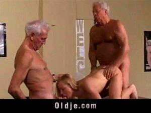Warm Aged Youthful Three-way Screw Porn
