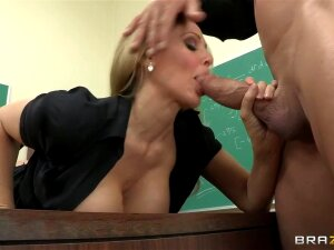 How To Handle Your Students: 101, Mr. Glide, A New Teacher, Had A Very Tough First Day In Class Today He Tells The Dean, Miss. Ann After Class. He Feels Real Discouraged And Thinks He Might Not Be Fit To Be A Teacher. Miss. Ann Decides To Boost The Young Teacher's Moral. Her Big Tits And Wet Pussy Was All The Motivation He Needed...hey Whatever Works. Porn