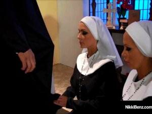 Penthouse Pet Nikki Benz & Jessica Jaymes Banged As Nuns! Porn
