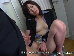 Asuka Kyono Is One Of The Sluttiest Girls You Will Ever Meet. She Got A New Job And She Couldn't Even Wait A Week Until She Started Hitting On Her Male Colleagues. She Needs Constant Sex Action And After All The Other Colleagues Have Left The Office, She Pointed Her Seduction Games Towards A Shy Guy That Works With Her. All She Had To Do Was Sit In A Chair And Spread Her Legs. The Guy Was Instantly Mesmerized At The Sight Of Her Pussy And He Dropped On His Knees To Taste That Pussy Juice. The Oral Sex She Received Was Satisfying, But She Got A Crave For Fresh Jizz That Made Her Take The Guy's Cock Out Of His Pants And Put It In Her Mouth. Her Blowjob Skills Are Insane. She Didn't Even Had To Suck His Cock Too Much. The Guy Couldn't Hold In His Orgasm Too Much And He Came Right In Her Mouth. You Will Love The Way This Slutty Office Babe Is Playing With The Cum At The End Of The Movie. She Spits It In Her Palm And Plays With It In Front Of The Camera. You Sure Want A Colleague Like Asuka In Your Office. Porn