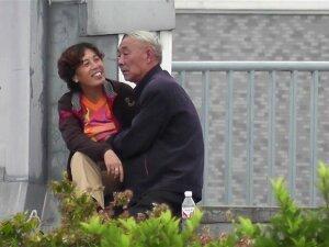 Grandpa Gets A HJ Outdoors Porn