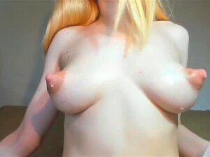 Stroking Yam-Sized Total Breasts. Pointy Nips, Milk Gorged Puny Porn