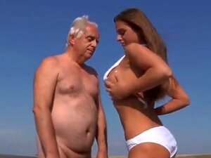 Sexy Big Titted Teen Girl Fucks An Oldman On The Beach Porn
