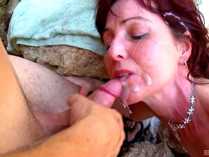 Beach Porn For The Slim Mature Wife With A Random Guy Porn