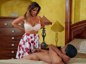 Strong And Horny Dude Feeds Aubrey Black With His Strong Boner Porn