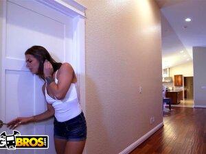 BANGBROS - Step Sister Evelin Stone Caught Juan El Caballo Loco Jerking Off Porn