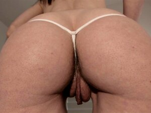 Close Up Rear View Hairy Pussy And Asshole In Thong Porn