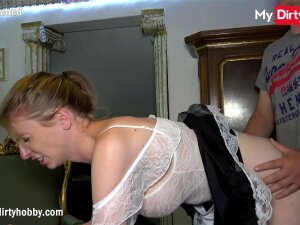 German Amateur Housemaid With Big Tits Seduces Her Boss When His Wife Is Away And Begins Sucking His Cock Until He Shoots His Load In Her Mouth After A Rough Fuck Porn
