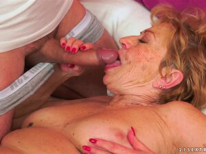 Slutty Granny And A Thick Cock College Guy Fucking Porn