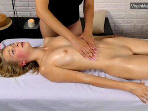 Super Hot Russian Blondie Lizka With Small Tits Massaged Porn