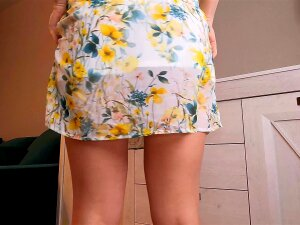 Cute Teen In Skirt Teases And Strips After School. Porn