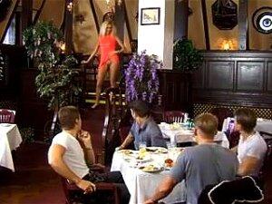 Husband Watching Wife Gangbanged In Restaurant Porn