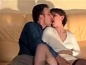 Horny French Wife In Black Stocking Fucked Every Hole Porn
