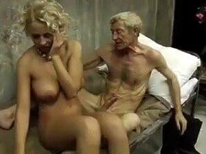 Beauty Blonde Fucks With Old Man Porn