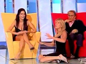 Hot Italian Showgirls Upskirt On Tv Show Porn