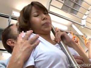 Lovely Asian Milf Is On The Train To Go Home. She Is Spotted By This Horny Guy Who Is Now Groping Her Big Tits. She Is Hot For His Cock And She Slides It Into Her Mouth For A Deep Throat Sucking And She Gets A Load Of Cum On Her Face Before He Slams Her Pussy In A Rear Fucking In Public! Porn