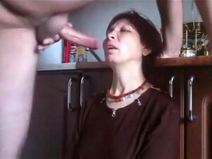 Russian Granny Rough Throat Fucking Porn