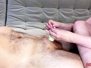 Mistress Sticks Her Toes Under The Foreskin And Plays With Duct Tape EasyCBTGirl Porn
