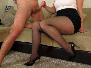 Cum In Panties StepSister - Teen Handjob And ThighJob In Pantyhose Porn