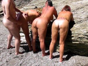 Beach Fucking Foursome Porn