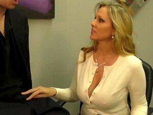 Busty Blonde Milf Julia Ann Milks Cum From Rock Hard Dick! Porn