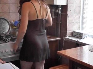 After Kitchen Naked Cooking Wife Was Caught Masturbating With Cup Of Cofee Porn