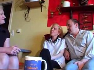 Kinky Mature Couple Invite A Friend Over For Some Licking Porn