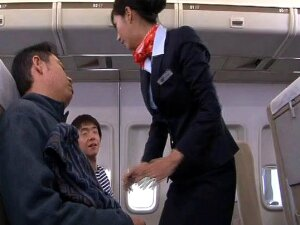 Amazing Japanese Stewardess Loves Getting Fucked By Passengers Porn